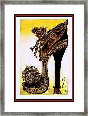 High Heel Heaven Framed Print by Jolanta Anna Karolska