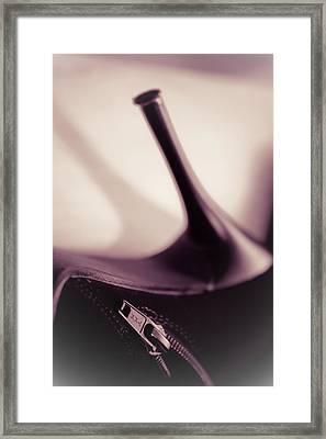 High Heel Of A Brown Shoe Framed Print by Vlad Baciu