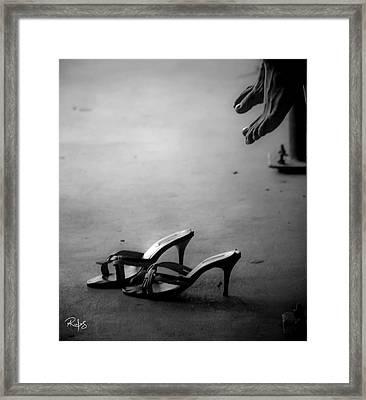 High Heels Awaiting Framed Print by Allan Rufus
