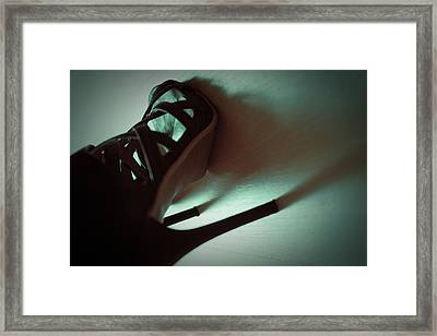 High Heels Brown Stylish Shoes Framed Print