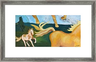 High Horse Framed Print
