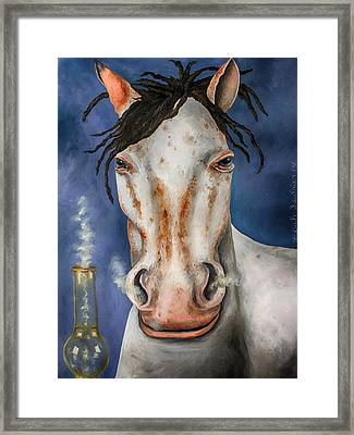 High Horse Edit 3 Framed Print by Leah Saulnier The Painting Maniac