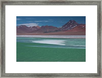 High In The Andes Mountains In Chile Framed Print