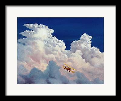 Piper Cub Framed Prints