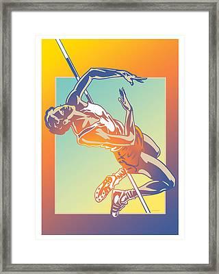 High Jump 2 Framed Print