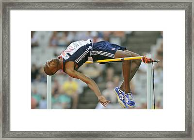 High-jumper Framed Print