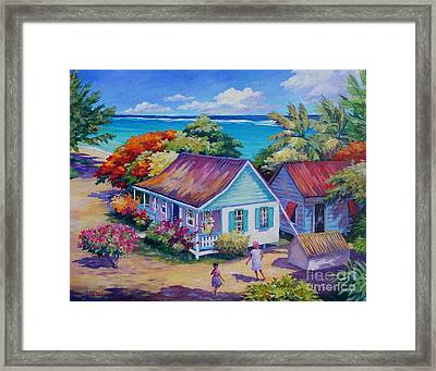 High Level Meeting Framed Print by John Clark