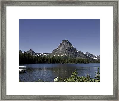 High Mountain Lake Framed Print