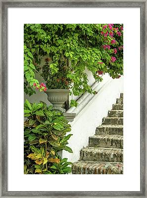 High On A Hill, Convento De La Popa Framed Print by Jerry Ginsberg