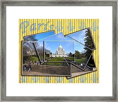 High On A Hill In Paris - Sacre Coeur Framed Print