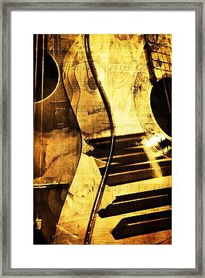 High On Music Framed Print by Randi Grace Nilsberg