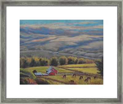 High On The West Slope Framed Print