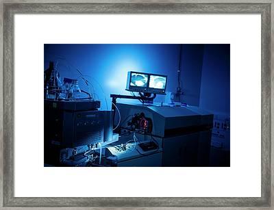 High-performance Liquid Chromatography Framed Print by Dan Dunkley