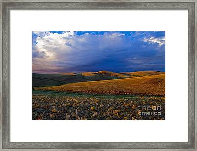 High Plains Drama Framed Print