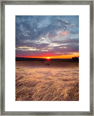 High Plains Sunrise Framed Print by Ric Soulen