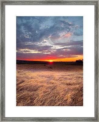 High Plains Sunrise Framed Print by Ric Soulen