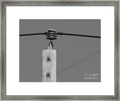 Framed Print featuring the photograph High Power Line - 6 by Kenny Glotfelty