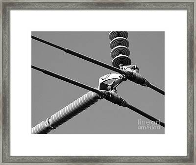 Framed Print featuring the photograph High Power Lines - 1 by Kenny Glotfelty