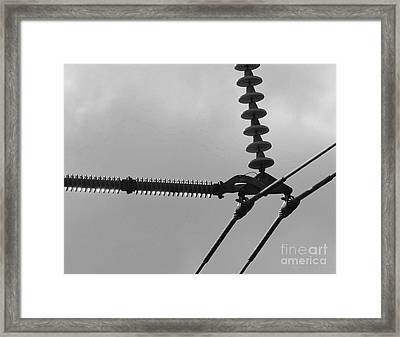 Framed Print featuring the photograph High Power Lines - 2 by Kenny Glotfelty