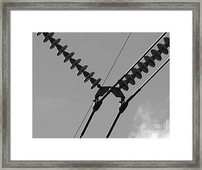 Framed Print featuring the photograph High Power Lines - 3 by Kenny Glotfelty