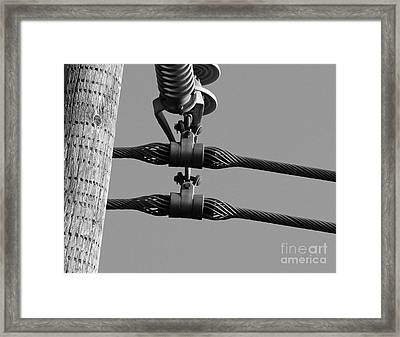 Framed Print featuring the photograph High Power Lines - 5 by Kenny Glotfelty