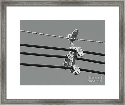 Framed Print featuring the photograph High Power Lines - 9 by Kenny Glotfelty