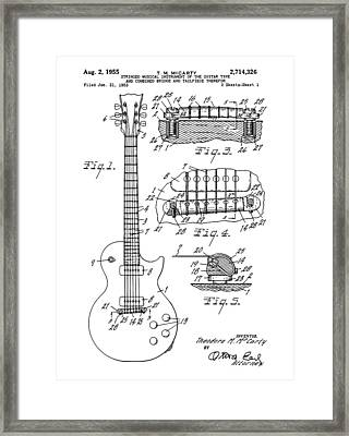 High Resolution Gibson Les Paul Guitar Framed Print