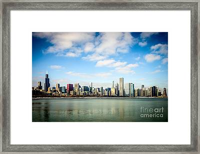 High Resolution Large Photo Of Chicago Skyline Framed Print