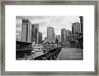 high rise apartment condo blocks in the west end coal harbour marina Vancouver BC Canada Framed Print by Joe Fox