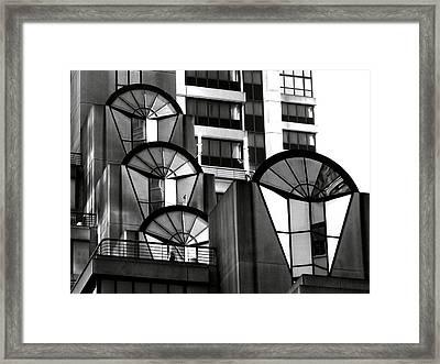 High Rise In Black And White Framed Print