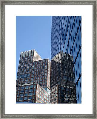 High Rise Reflection Framed Print