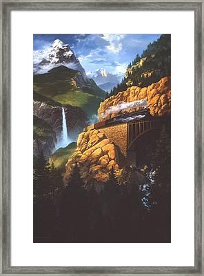 High Run Framed Print by Tom Wooldridge