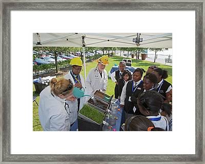 High School Ecology Education Framed Print