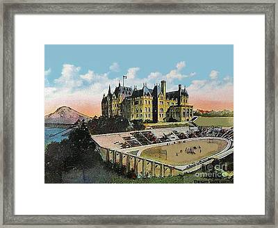 High School Football Stadium In Tacoma Wa 1911 Framed Print by Dwight Goss