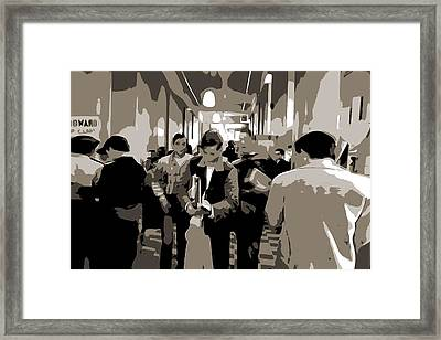 High School Hallway Framed Print by Dan Sproul