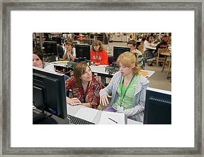 High School Media Centre Framed Print by Jim West
