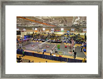 High School Robotics Competition Framed Print by Jim West