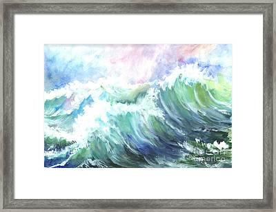 High Seas Framed Print by Carol Wisniewski