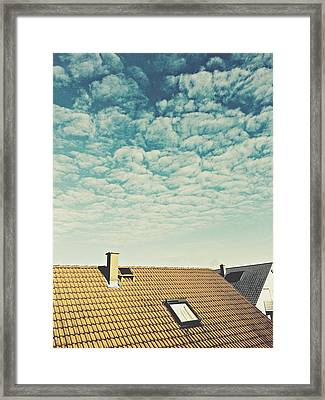 High Section Of Roof Tiles Framed Print by Thomas M. Scheer / Eyeem