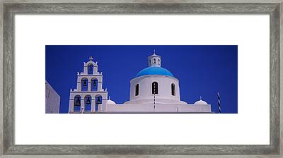 High Section View Of A Church, Oia Framed Print by Panoramic Images