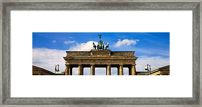 High Section View Of A Memorial Gate Framed Print by Panoramic Images