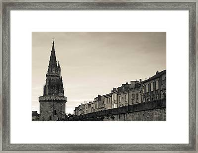 High Section View Of A Tower, Tour De Framed Print