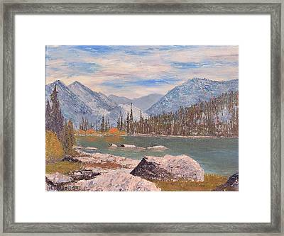 High Sierra Lake Framed Print