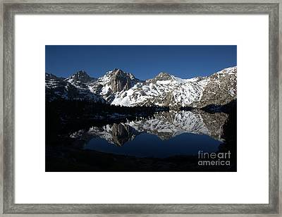 High Sierra Mountain Reflections 1 Framed Print