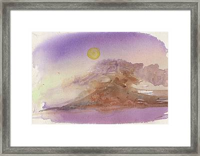 High Sierra Storm Framed Print
