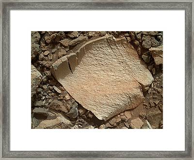High-silica Rock On Mars Framed Print by Nasa/jpl-caltech/msss