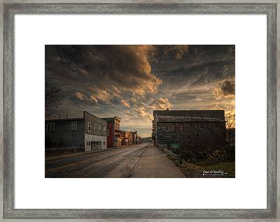 High Street - Glouster Framed Print