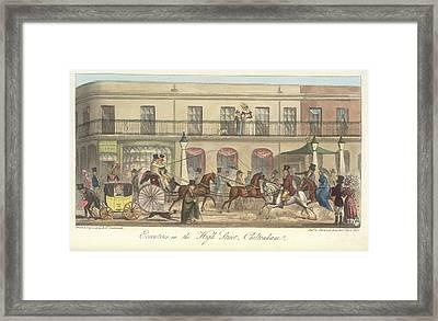 High Street Cheltenham Framed Print