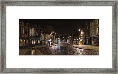 High Street Linlithgow Scotland. Framed Print by Buster Brown