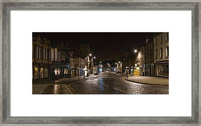 High Street Linlithgow Scotland. Framed Print
